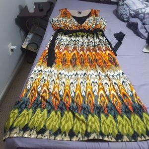 Colorful boho maxi dress